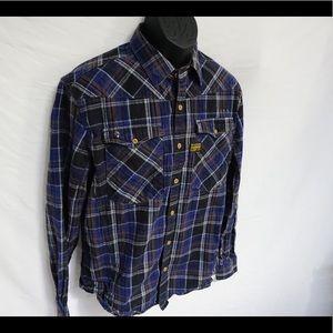 Raw Denim men's flannel. Size XL